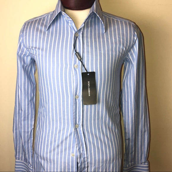 010ef0bc Dolce & Gabbana Shirts | Nwt Stripped Dolce Gabbana Button Down ...